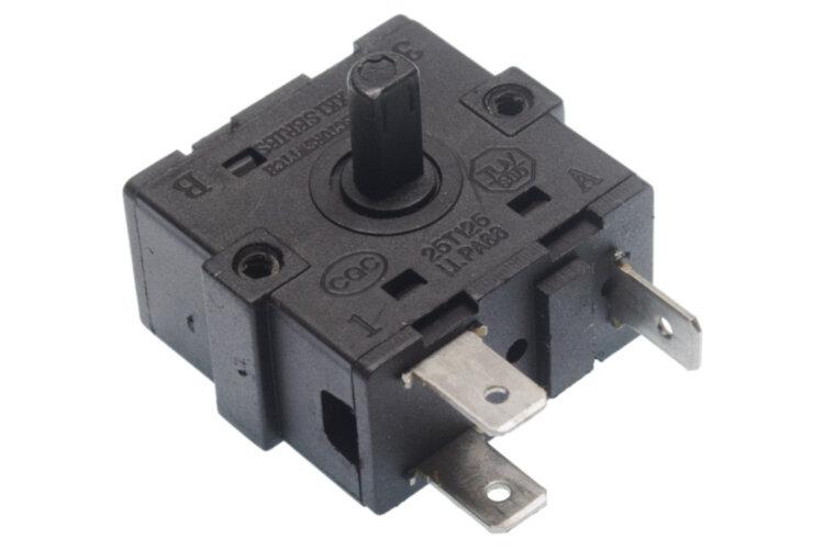 Переключатель режимов XK1 10A 250V T125 3 контакта 3 положения для соковыжималок Digital Vinis 68847