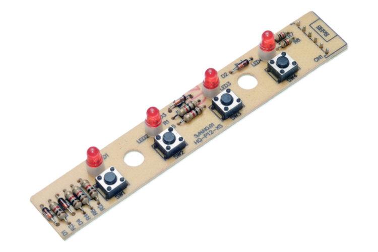 Переключатель плата HQ-P12-XS 4 кнопки разъем 67444 для кухонной вытяжки